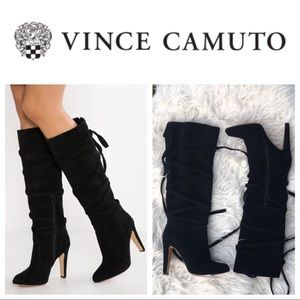 New Vince Camilo Millay suede tie up boots